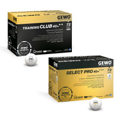 GEWO Ball-Set je 1x Training Club 40+** + Select Pro 40+*** 72er